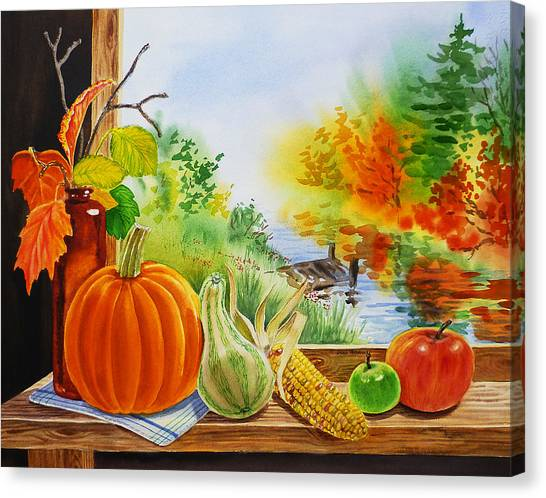 Irina Canvas Print - Autumn Harvest Fall Delight by Irina Sztukowski