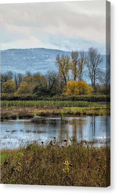 Canvas Print featuring the photograph Autumn Haven by Belinda Greb