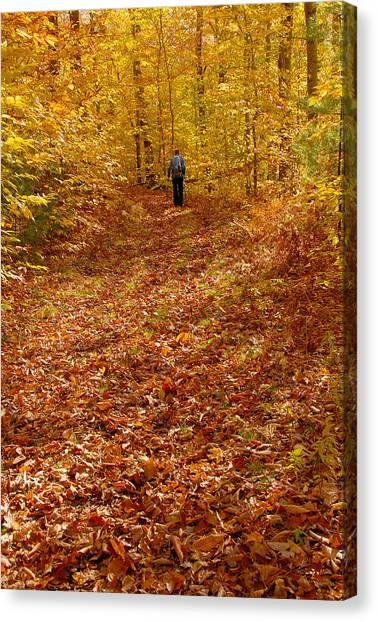 Autumn Hike Canvas Print