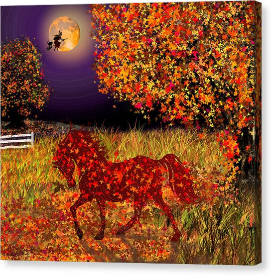 Autumn Horse Bewitched Canvas Print
