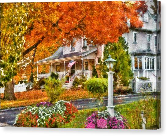 Autumn Scene Canvas Print - Autumn - House - The Beauty Of Autumn by Mike Savad