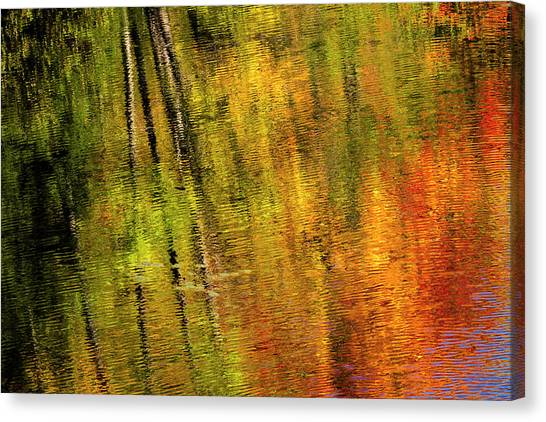 Marquette University Canvas Print - Autumn Hues Reflect Into The Dead by Chuck Haney