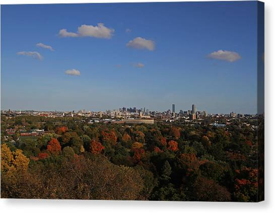 Harvard University Canvas Print - Autumn In Boston by Juergen Roth