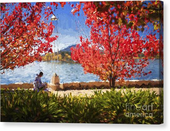 Canberra Canvas Print - Autumn In Canberra by Sheila Smart Fine Art Photography