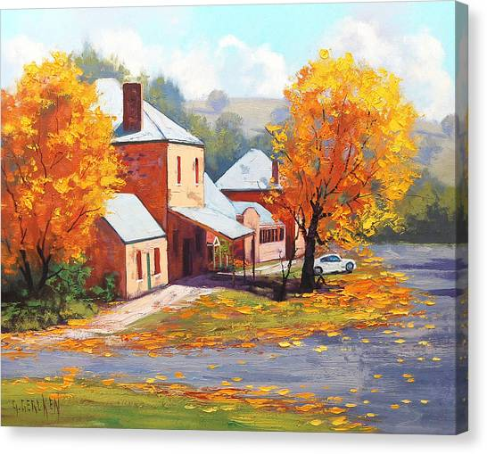 Amber Canvas Print - Autumn In Carcor by Graham Gercken