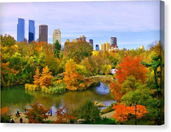 Autumn In Central Park 4 Canvas Print
