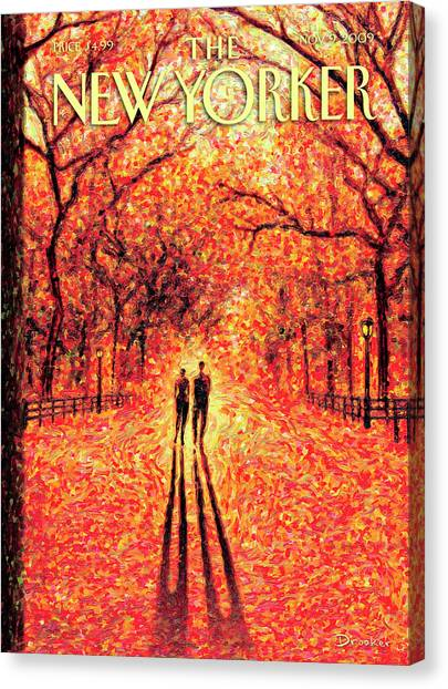 Autumn In Central Park Canvas Print