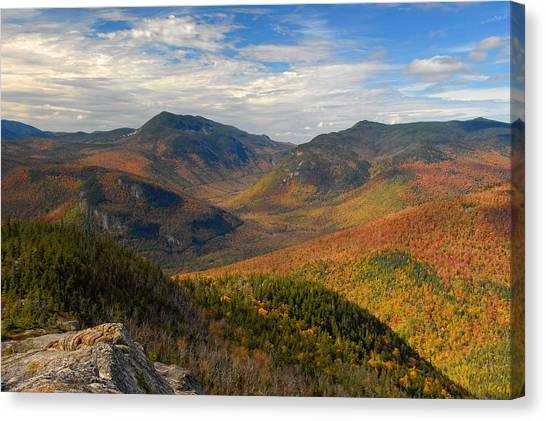 Autumn In Crawford Notch Canvas Print by Ken Stampfer