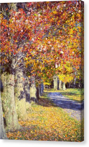 Hyde Park Canvas Print - Autumn In Hyde Park by Joan Carroll