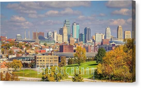 Autumn In Kansas City With Logo Canvas Print