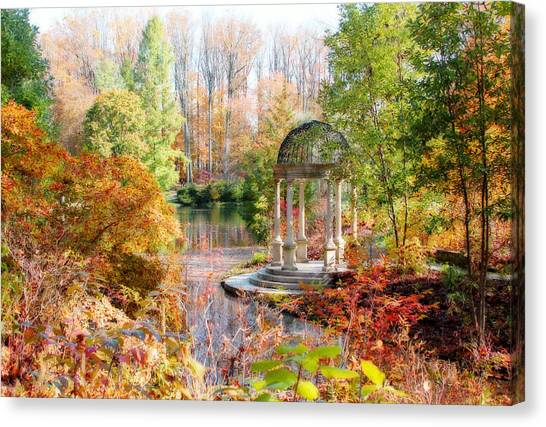 Autumn In Longwood Gardens Canvas Print