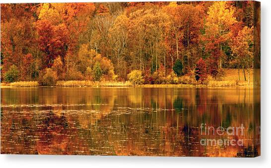 Autumn In Mirror Lake Canvas Print