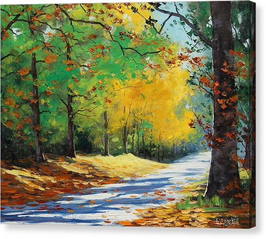 Amber Canvas Print - Autumn In Mt Wilson by Graham Gercken