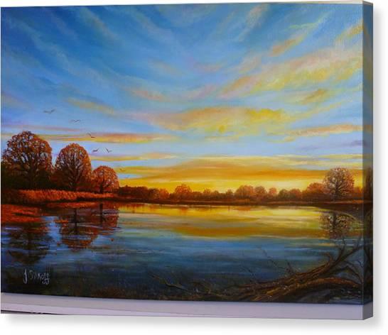 Autumn In Richmond Park. Canvas Print by Janet Silkoff