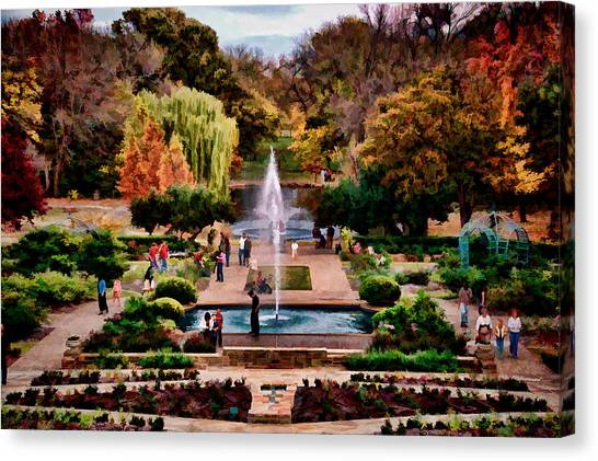 Autumn In The Gardens Canvas Print