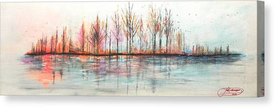Autumn In The Hamptons Canvas Print