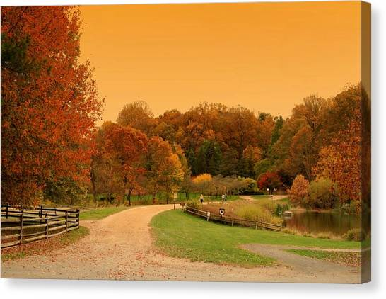 Autumn In The Park - Holmdel Park Canvas Print