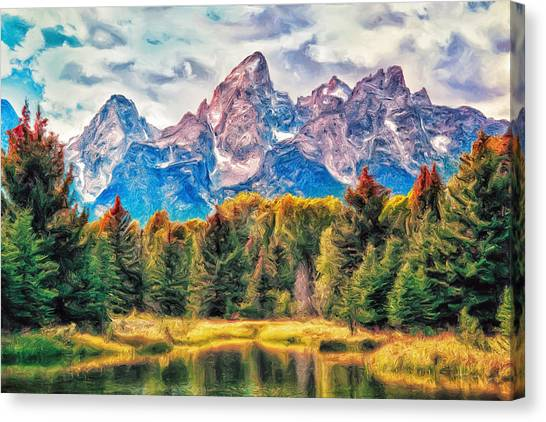 Autumn In The Tetons Canvas Print