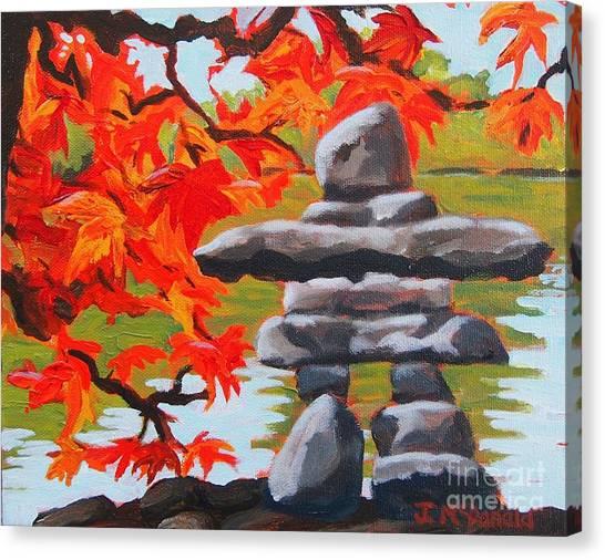 Autumn Inukshuk Canvas Print