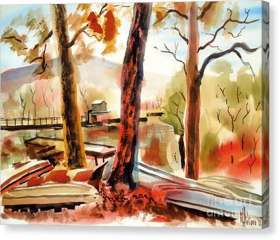 John Boats Canvas Print - Autumn Jon Boats II by Kip DeVore