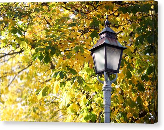Autumn Lamp Post Canvas Print