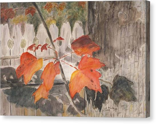 Autumn Leaves On Belmont St Canvas Print