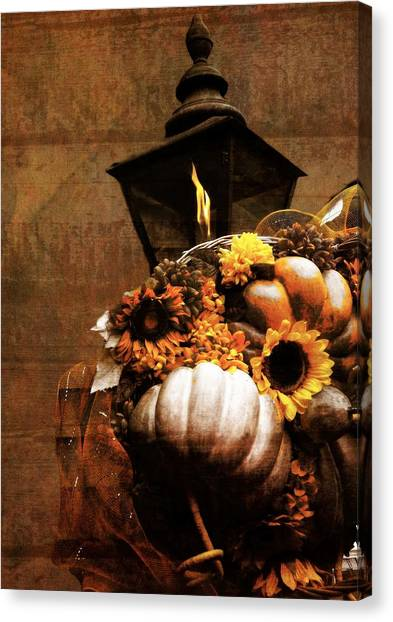 Gatlinburg Tennessee Canvas Print - Autumn Light Post by Dan Sproul