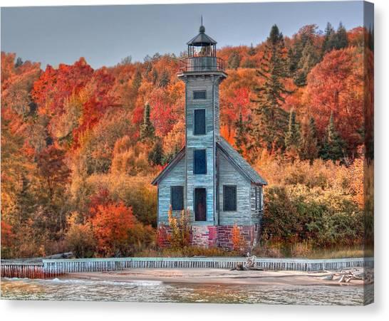 Autumn Lighthouse Canvas Print