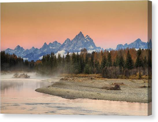 Beauty Mark Canvas Print - Autumn Mist by Mark Kiver
