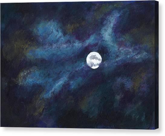 Autumn Moonscape Canvas Print