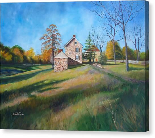 Autumn Morning Canvas Print by Diane Hutchinson