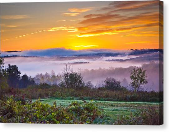 Autumn Morning In The Hills Canvas Print