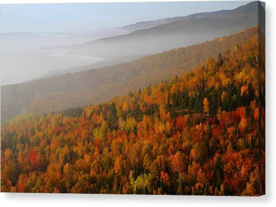 Cabot Trail Canvas Print - Autumn Mountains At The Cabot Trail by Jetson Nguyen