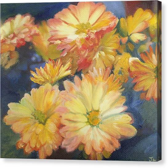 Autumn Mums Canvas Print by Jennifer Lycke