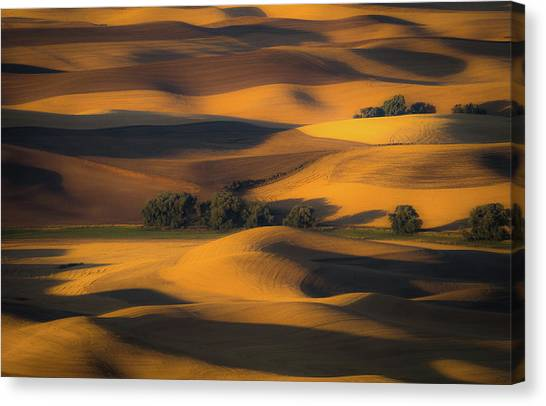 Rolling Hills Canvas Print - Autumn Of Rolling Hills by Eunice Kim