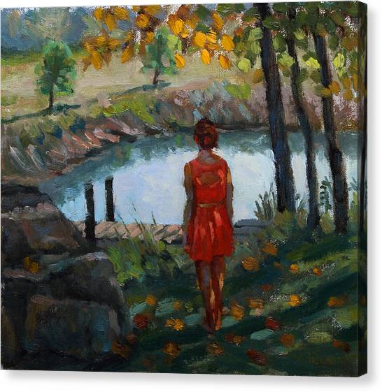 Autumn On Jug Creek Canvas Print