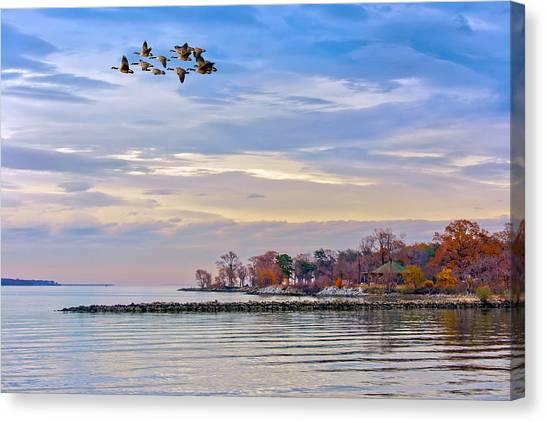 Autumn On The Chesapeake Bay Canvas Print