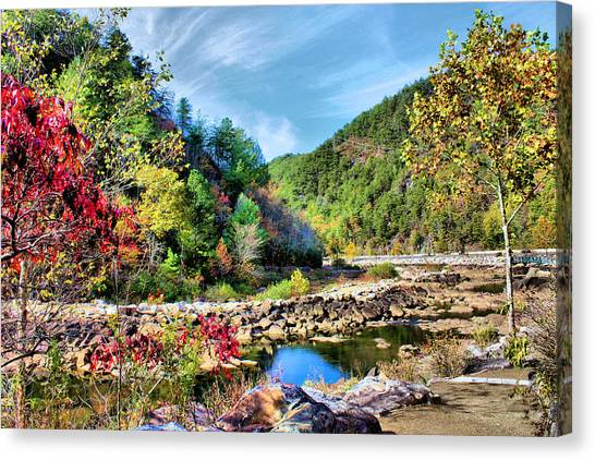Autumn On The Ocoee Canvas Print