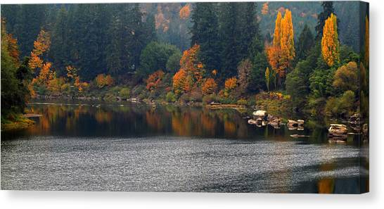 Autumn On The Umpqua Canvas Print