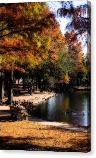 Oklahoma University Canvas Print - Autumn On Theta by Lana Trussell