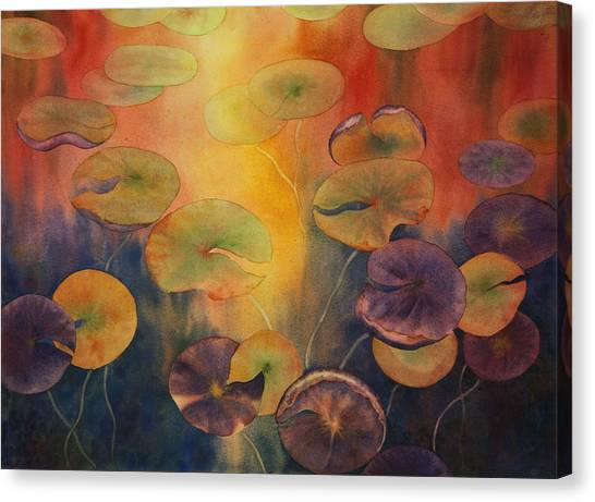 Autumn On Winslow Lake Canvas Print