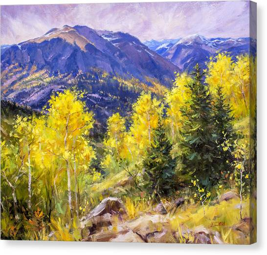 Autumn Overlook Canvas Print by Bill Inman