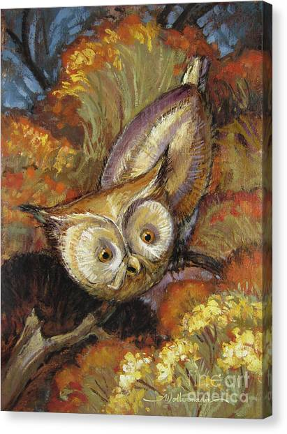 Autumn Owl Canvas Print