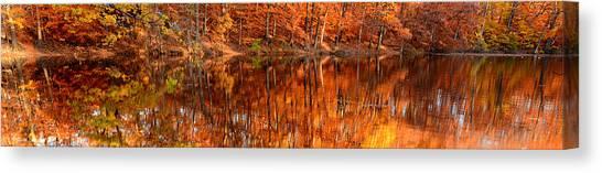 Maple Leaf Art Canvas Print - Autumn Paradise by Lourry Legarde