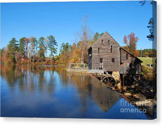 Autumn Reflections At Yates Mill Canvas Print