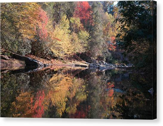 Autumn Reflections Canvas Print by John Saunders