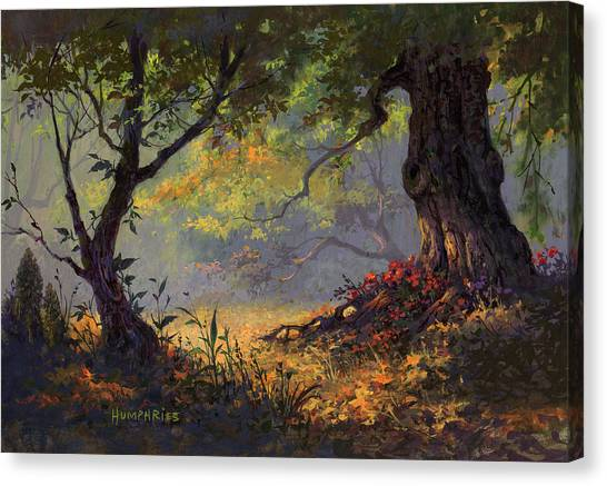 Orange Tree Canvas Print - Autumn Shade by Michael Humphries