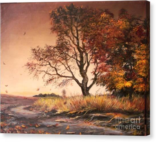 Autumn Simphony In France  Canvas Print