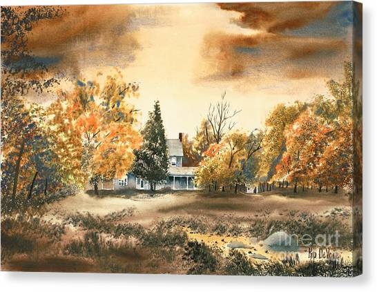 Autumn Scene Canvas Print - Autumn Sky No W103 by Kip DeVore