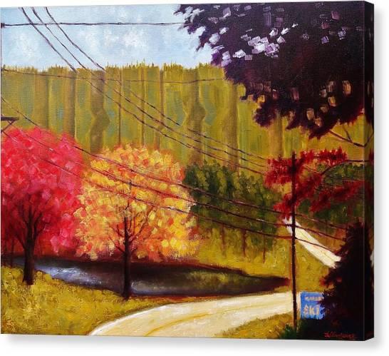 Autumn Slopes Canvas Print
